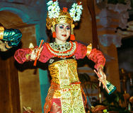 Dancer in Ubud performs Legong, a Balinese Dance Stock Images