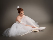 Dancer wears pointes Stock Photos