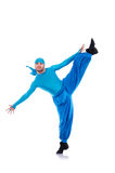 Dancer in wide trousers Stock Photography