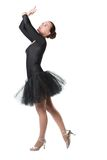 Dancer woman ballerina dancing ballet with tutu Royalty Free Stock Images