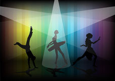 Dancer woman and boy Stock Photography