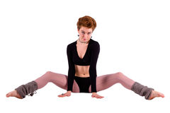 Dancer woman on the floor Stock Images