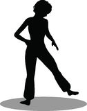 Dancer woman silhouette Royalty Free Stock Image