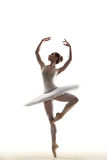 The dancer. Young beautiful dancer posing on a studio background Royalty Free Stock Photos