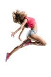 The dancer. Young hip-hop dancer posing in studio stock photos