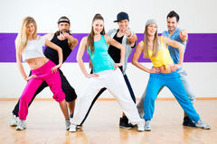 Dancer at Zumba fitness training in dance studio Royalty Free Stock Photos
