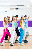 Dancer at Zumba fitness training in dance studio Royalty Free Stock Images