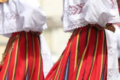 Dancers. Folk dancers with colorful clothes Stock Photography