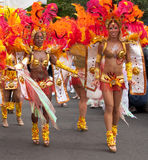 Dancers in the 2009 Notting Hill Carnival. Articles about the next Notting Hill Carnival, London life, diversity Royalty Free Stock Photography