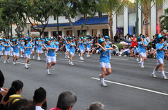 Dancers at the 2012 Honolulu Festival Parade Stock Photos