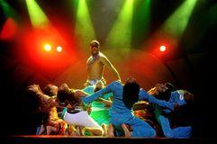 Dancers. Image of dancers in a stage show stock photography