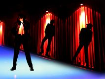 Dancers. A beautiful background of dancers Stock Photo