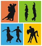 Dancers. Man and woman dancing American Latin dances Stock Photography