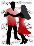 Dancers. Illustration of dancers, music, people Royalty Free Stock Images