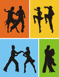 Dancers. Of American Latin dances Royalty Free Stock Photography