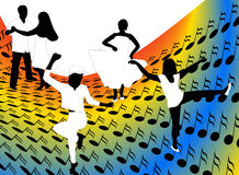 Dancers. Illustration of dancers and abstract Stock Photo