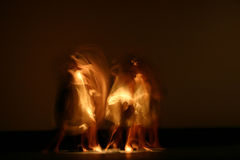 Dancers. Several modern dance performers in blurred motion Stock Photos