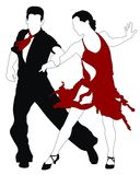 Dancers. Abstract  illustration of latin american dancers Royalty Free Stock Images