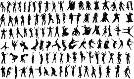 Dancers vector illustration
