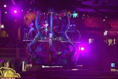 Dancers above gamblers at Rio Casino in Las Vegas, NV Royalty Free Stock Image