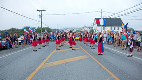 Dancers at an Acadien festival Stock Photography