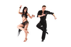 Dancers in action Royalty Free Stock Photos