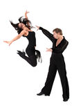 Dancers in action Royalty Free Stock Images
