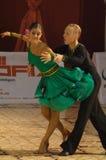 Dancers: Alex Dutcovici/Ana Marin. Alexandru Dutcovici and Ana Marin, dancers, 4th place winners at the National Dance Contest, Cupa Romaniei, Latin Section, 15 Royalty Free Stock Photos