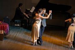Dancers Alexander Pukhov and Natalia Gavrilova Stock Images