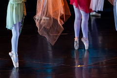 Dancers during ballet performances.Legs only. Soft focus Stock Photo