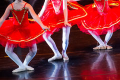 Dancers during ballet performances.Legs only. Soft focus Royalty Free Stock Photography
