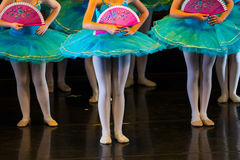 Dancers during ballet performances.Legs only. Soft focus Royalty Free Stock Image