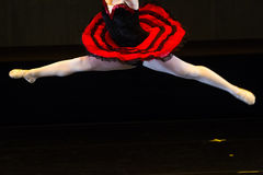 Dancers during ballet performances.Legs only. Soft focus Stock Image