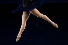 Dancers during ballet performances.Legs only. Soft focus Stock Images