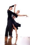 Dancers in ballroom Royalty Free Stock Photos