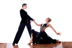 Dancers in ballroom Stock Photography
