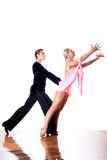 Dancers in ballroom Royalty Free Stock Photos