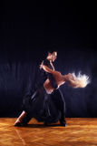 Dancers in ballroom Royalty Free Stock Photo