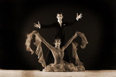Dancers in ballroom Royalty Free Stock Images