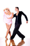 Dancers in ballroom in action Royalty Free Stock Photo