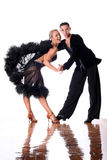 Dancers in ballroom in action Royalty Free Stock Photography