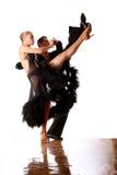 Dancers in ballroom in action Stock Photo