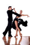 Dancers in ballroom in action Stock Photos