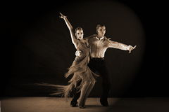 Dancers in ballroom Royalty Free Stock Photography
