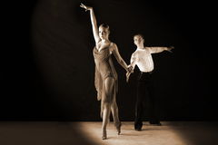 Dancers in ballroom Royalty Free Stock Image