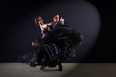 Dancers in ballroom Stock Photos