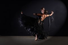 Dancers in ballroom Stock Images