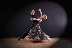 Dancers in ballroom isolated on black background Royalty Free Stock Image
