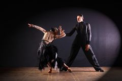 Dancers in ballroom isolated on black background Stock Image