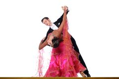 Dancers in ballroom isolated on white background Stock Photos